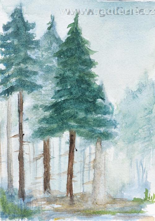 PAKA, akvarelová skica