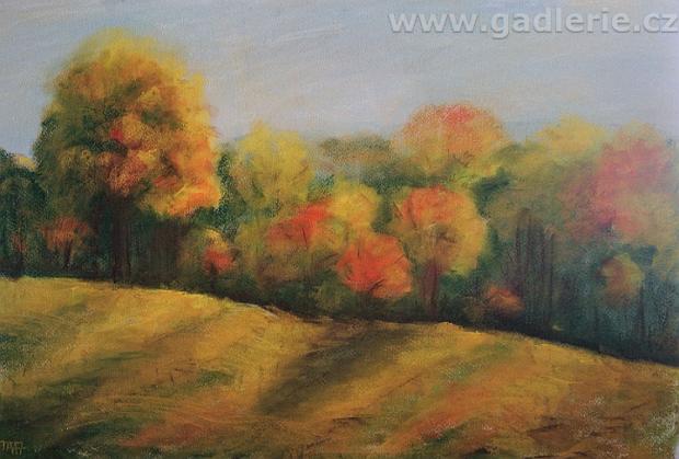 PÍSEČNÁ, suchý pastel, karton, 60 x 40, www.art-we.cz