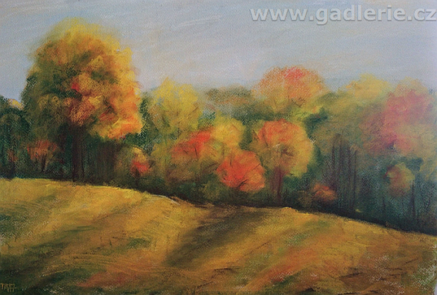 PÍSEČNÁ, suchý pastel, karton, 60 x 40