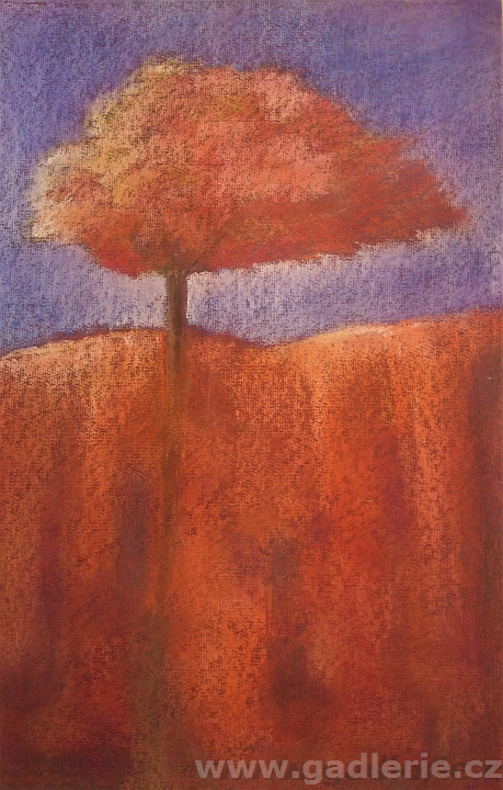 SRDEČNÍ ZÁLEŽITOST, suchý pastel, karton, 33 x 50