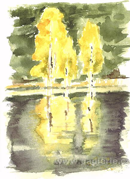 KLADSKÁ, akvarelová skica, NEDOSTUPNÝ