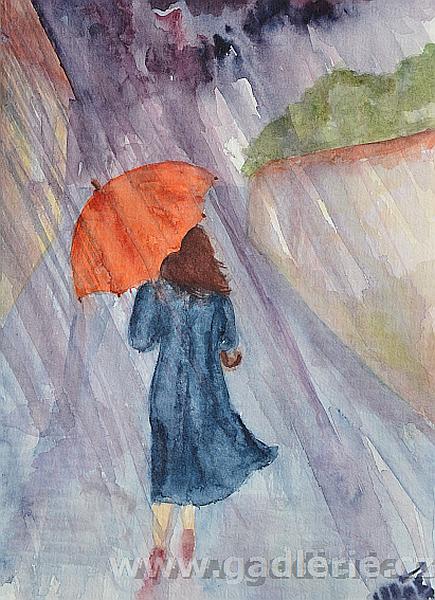 LETNÍ LIJÁK, akvarelová skica