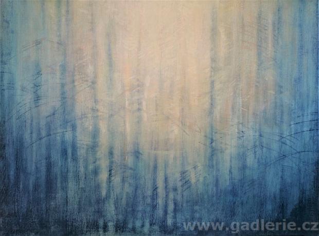 OSM BROKÁTŮ, olejový a suchý pastel, plátno na rámu, 60 x 40, NEDOSTUPNÝ