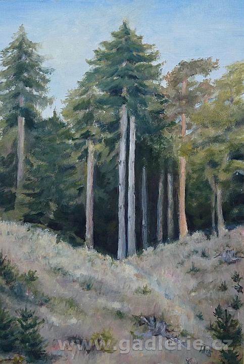 PLENÉR, olej, plátno na desce, 45 x 35