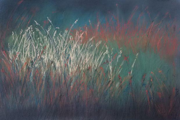 NADĚJE, suchý pastel, karton, 50 x 35