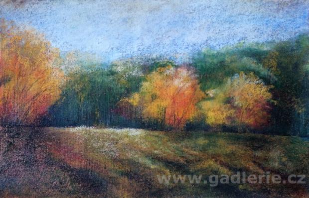 TEPLÁ, suchý pastel, karton, 50 x 35