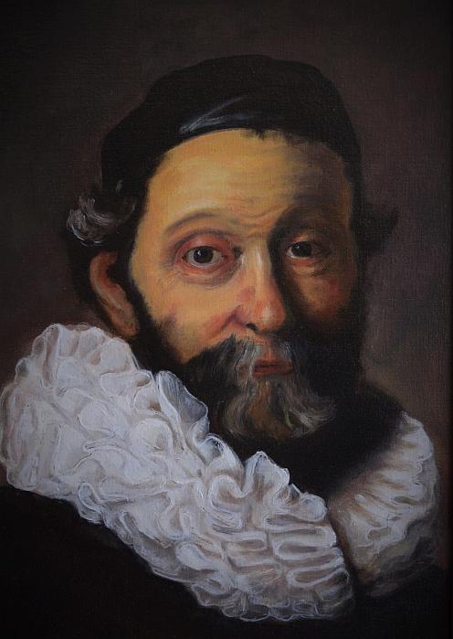 Rembrandt': JOHANNES WTENBOGAERT. Kopie, olej na desce,  50 x 70