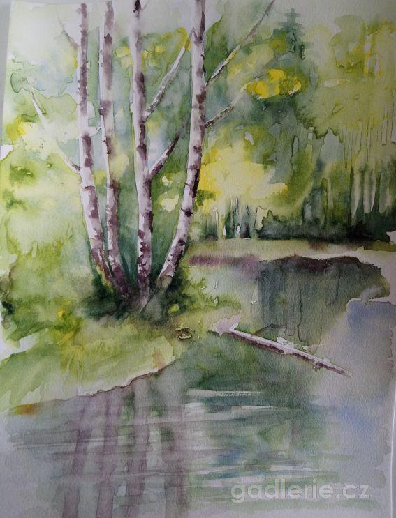 KLADSKÁ I, akvarel, 24 x 32
