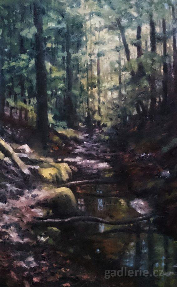 ZVÁNOVICE I, olej, plátno na desce, 25 x 40