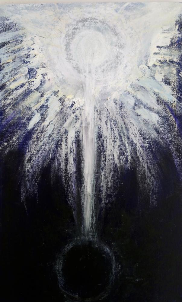 POLARITA, olejový pastel na akrylu, 25 x 40, NEDOSTUPNÉ