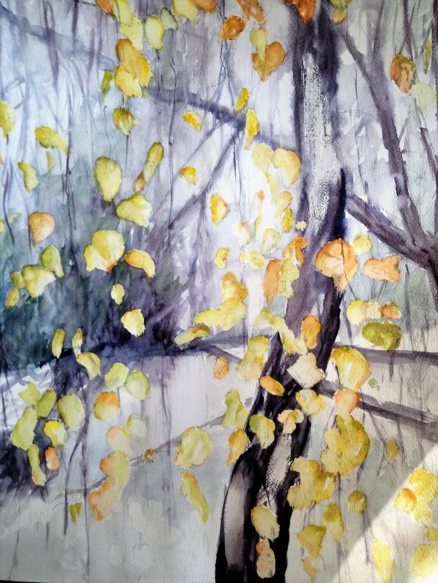 kLAMOVKA, akvarel, 40 x 50