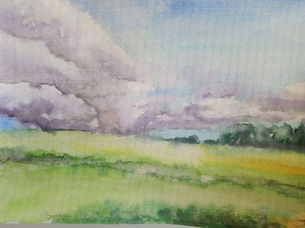 VODŇANY, akvarel, 32 X 24